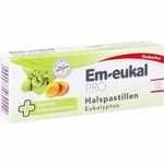 Em-eukal PRO Keelpastilles eucalyptus suikervrij 30zuigpast