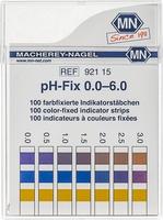 Indicatorstaafjes pH 0-6,0 indicatie 0,5 100strips