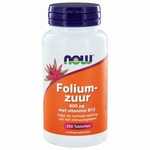 NOW Foliumzuur 800mcg 250tab