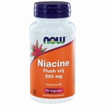 NOW Niacine flush vrij 250mg 90cap