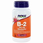 NOW Vitamine   B2 100mg 100cap