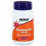 NOW Vitamine D3  400IE 90sft