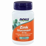 NOW Zink gluconaat 50mg 100tab