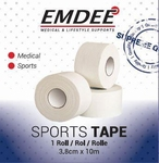 Emdee sporttape breed 3,8cmx10m wit 1rol