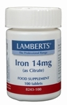 Lamberts IJzer (iron) citraat 14 mg 100tab