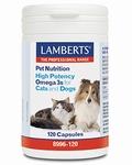 Lamberts Omega 3 voor kat en hond 120cap