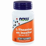 NOW L-Theanine 200 mg met Inositol 100 mg 60vcaps
