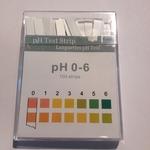 Indicatorstaafjes pH 0-6,0 indicatie 1,0 100strips