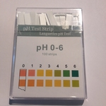 Indicatorstaafjes pH 0-6,0 indicatie 1,0 100strips