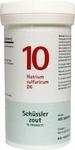 Pfluger Schusslerzout 10 Natrium sulfuricum D6