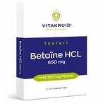 Vitakruid Betaine HCl 650mg met 160mg Pepsine 10tabl