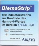 Blema-Strips pH meetstrips indicator speeksel/urine 120st