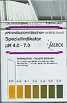 Indicatorstaafjes pH-4,0-7,0 Merck 100st