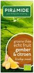 Piramide Groene thee met gember citroen EKO BIO 20builtjes