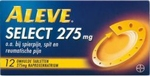 Aleve select 275mg 12tabl