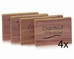 Cederhout ladenblokjes 4st